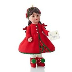 2013 Madame Alexander #18 - Sending Christmas Cheer Hallmark Ornament