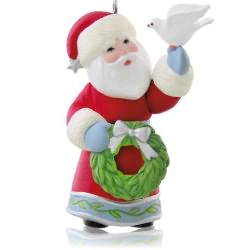 2014 A Visit From Santa #6f - Dove Hallmark Ornament