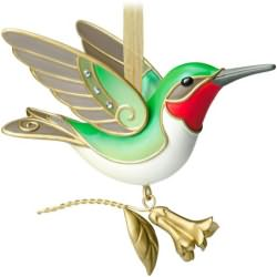 2014 Beauty Of Birds #10 - Hummingbird Hallmark Ornament