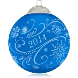 2014 Christmas Commemorative #2 - Blue Hallmark Ornament