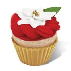 2014 Christmas Cupcakes - Sweet Surprise - Gold Hallmark Ornament