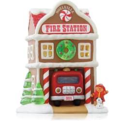 2014 Noelville #9 - Fire Station Hallmark Ornament