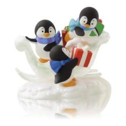 2014 Present-packing Penguins Hallmark Ornament