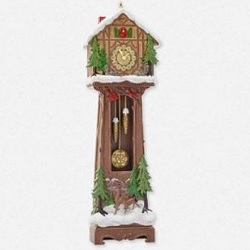 2014 Santas Grandfather Clock - Club Hallmark Ornament