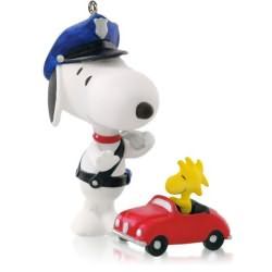 2014 Spotlight On Snoopy #17 - Officer Snoopy Hallmark Ornament