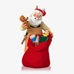 2014 Toymaker Santa 15th Anniversary - Limited Hallmark Ornament